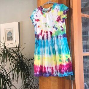 Girls tie dyed dress